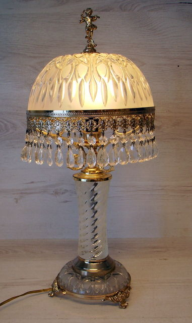 floor lamp in crystal with bronze mounts mid 20th century france catawiki. Black Bedroom Furniture Sets. Home Design Ideas