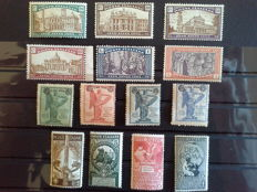 Italy, Kingdom, 1911-1924 – 3 complete series of Ordinary Post – Sassone No. 95-95 S 14 No. 158-161 S 30 No. 169-174 S 33