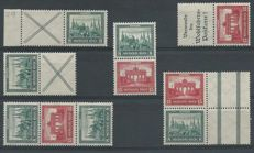 German Empire 1917/1920 – Selection of combinations – Michel W37, S76/S78, S80, S84