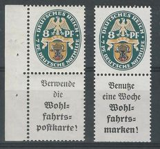 German Reich 1928 - Combinations National coat of arms - Michel S58 + S62