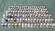Collection of 107 thimbles.