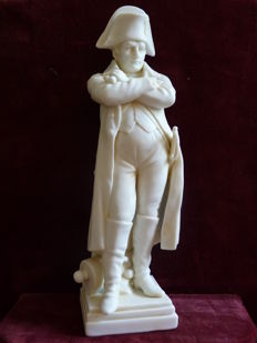 Antique Scheibe Alsbach biscuit porcelain sculpture of Napoleon Bonaparte.