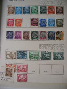 German Reich 1933-45 - stock album and pages full of stamps