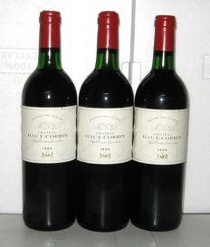 1986 Château Haut-Corbin, Grand Cru Classé de Saint-Emilion – Lot of 3 bottles