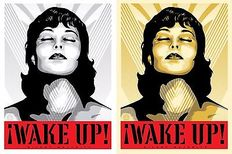 Shepard Fairey (OBEY) 'Wake Up' (White & Cream)