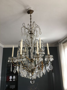 A Louis XV style chandelier, France, 20th century
