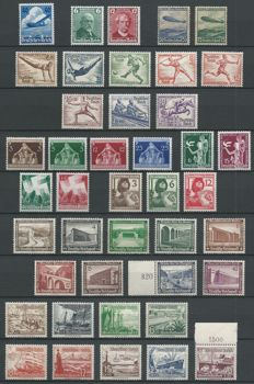 German Reich 1936/1938 – Selection, including Hindenburg and Olympic Games, among others.