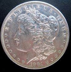 "United States - 1 Dollar ""Morgan"" 1881 O - silver"
