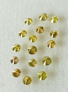 Lot of 16 natural diamonds , cts. 1.04 No reserve price.