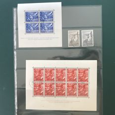 The Netherlands 1942/1951 – Legion blocks and seagulls – Michel 580/581 and block 1/2.