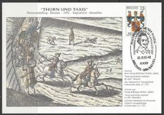 Belgium – Commemorative card OBP no. 2483HK 'Thurn und Taxis' with B.L.P. certificate