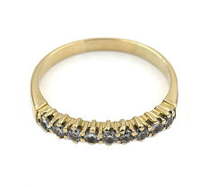 18 kt yellow gold – Cocktail ring – Brilliant cut diamonds – Ring inner diameter: 20.10 mm.
