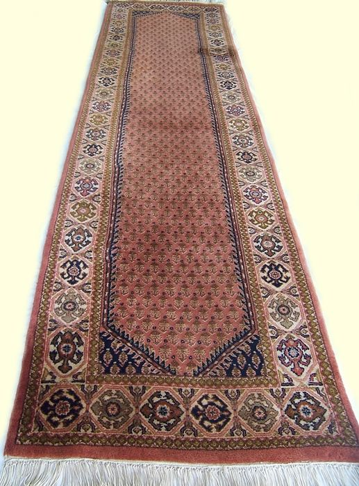 Beautiful semi antique handmade Sarouk Mir carpet / rug - India 20 century