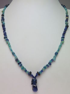 Necklace of Roman glass beads - 48 cm