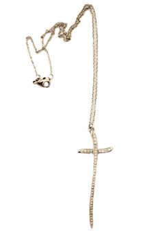 Cross in 18 kt white gold with diamonds, 0.63 ct by Rinaldo Gavello - chain 41 cm, cross length 4 cm
