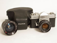 Fujica ST-701 with 2 lenses and ever-ready bag