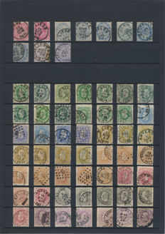 Belgium 1880/1920 – Study of cancellations and colour nuances