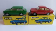 Lion Car - Scale 1/50 - DAF 44 Stationcar No.41 and DAF 66 Coupe No.40