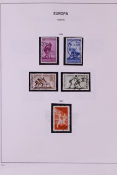 Europa stamps 1949/1998 - Batch in Davo preprint album, stock book and on sheets