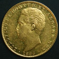 Portugal – 2.000 Réis in GOLD – 1866 – D. Luís I – Lisbon – Rare Condition