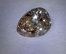 Diamond 0.52 ct Pear Cut Fancy Brown VS2