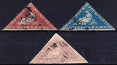 Cape of Good Hope 1850s – the one penny, four penny and six penny.
