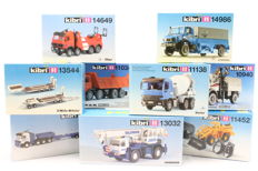 Kibri H0 - 10940/11034/11138/11452/13032/13544/13577/14649/14986 - 9 building kits for construction site