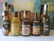5 bottles - Grant's 12 years old 70 cl – GlenDarck 12 years old 70 cl – Cromwell's 12 years old 70 cl – Oldmoor 12 years old 70 cl – Glen Turner 8 years 70 cl
