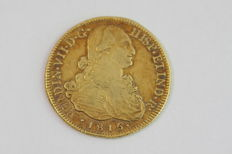Spain - Fernando VII (1813-1833) - 8 Escudos 1815 'Santiago of Chile' - Gold