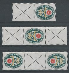 German Reich 1928 - Combinations National coat of arms - Michel S73, S74, S75