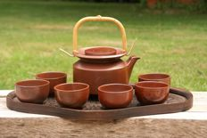 Ceremonial seven piece tea set made by the monks of Taizé, France