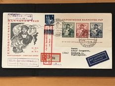 Allied occupation Bizone 1949 – First Day Cover Export Trade Fair Hannover – Michel Block 1