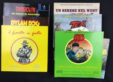6x Glamour Book dedicated to the Italian comics (1990-96)