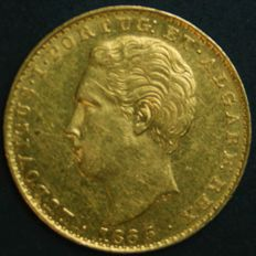 Portugal – 2.000 Réis in GOLD – 1865 – D. Luís I – Lisbon – Very Rare Condition