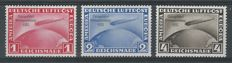 "German Reich, 1933, Airmail Zeppelin ""Chicagofahrt"", Michel 496/498"