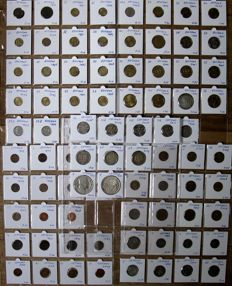 Estonia and Latvia – Collection with various coins 1922/2011 (87 different coins), including silver.