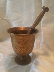 Bronze mortar purchased in France - 19th century