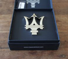"Beautiful Maserati ""Trident"" Car Emblem/Mascot in Presentation box"