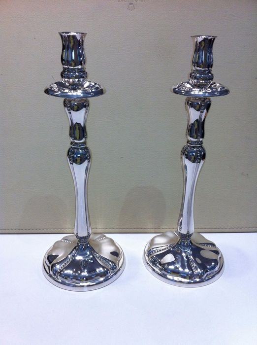 Pair of silver candlesticks - Manufactured by Farco - Spain - 1990/1999