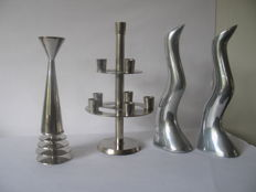 Anna Efverlund (among others) - Chromed designer candlesticks
