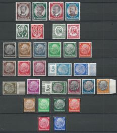German Empire 1934 - Selection - Michel 512/528, 540/543, 544/545, 554/555