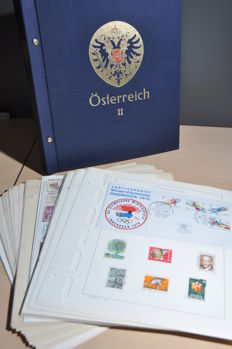 Austria 1860/1985 – Collection in a DAVO album and on pages