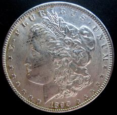 United States - 1 Dollar 'Morgan' 1890 - Silver