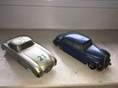 Prämeta/DUX, British zone/Western Germany - Length: 14 cm - 2x Mercedes Benz 300 models powered by clockwork, 50s