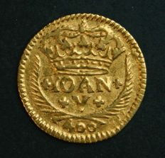 Portugal – Pinto in GOLD – 1720 – D. João V – 4 Arch Crown – Lisbon – UNC