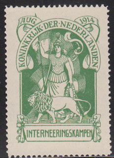 The Netherlands 1916 - Internment stamp - NVPH IN1, with certificate
