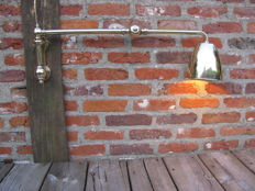 Unknown designer – Industrial Brass Wall Light.