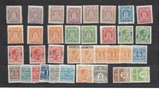 Denmark 1875 / 1940 - Service,taxe -  Small lot
