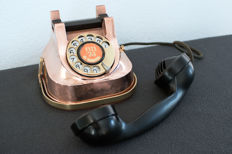 Vintage copper portable dial telephone RTT 56B