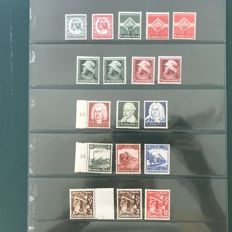 German Reich 1933/1934 - Selection of 6 emissions - Michel 554/599